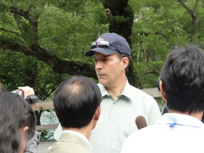 US Ambassador Roos Visits Kamikōchi with Family