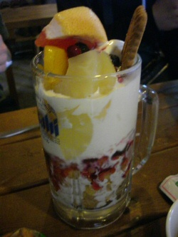 Indulging in a Parfait-Filled Beer Mug