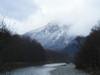 The Snow-Covered Mt. Yakedake